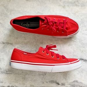 Keds Red Double Up Lace Canvas Kickstart Sneaker